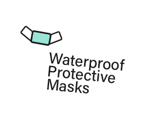 Waterproof protective masks